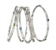 Sterling Silver Sea Grass Bangle Bracelets