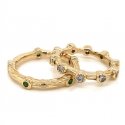 14k gold sea grass eternity band stackables