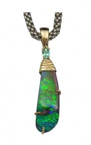 Fabulous 21ct Boulder Opal Pendant