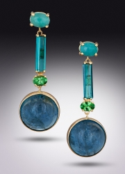 Aquamarine and Tourmaline Drops