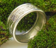 Ss Sea Grass Wide Band Ring