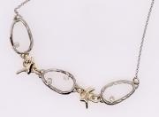 14k Gold Diamond Sea Grass Link Necklace