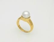 14k Gold Fresh Water Pearl Ring